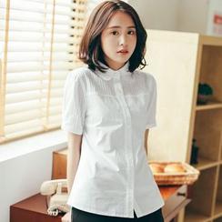 11.STREET - Short-Sleeve Striped Shirt