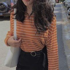 Cloud Nine - Stripe Knit Top