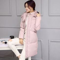 NINETTE - Hooded Padded Zip Coat