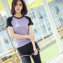 Girasol - Sport Short-Sleeve Color-Block Top