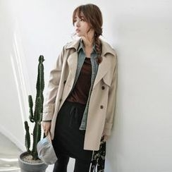 JUSTONE - Double-Breasted Trench Jacket