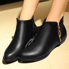 Tomma - Flat Pointy Ankle Boots