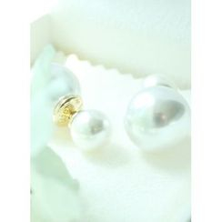 kitsch island - Faux-Pearl Clutch Earrings