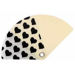 DREAMS - Pocket Size Uchiwa (Shaped Hand Fan) (Heart)