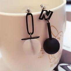 Jemai - Ball Non-Matching Earrings