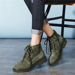 QQ Trend - Low Heel Lace Up Ankle Boots