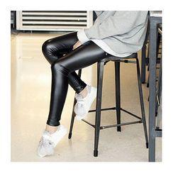 1ROA - Fleece-Lined Faux-Leather Leggings