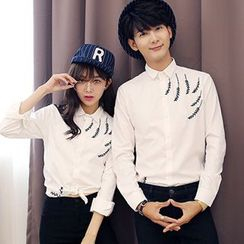 Evzen - Couple Matching Long-Sleeve Shirt