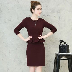 Romantica - Peplum Sheath Dress