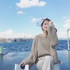 Pecora - Plain Chunky Knit Sweater
