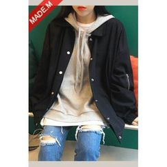 MICHYEORA - Snap-Button Oversized Jacket