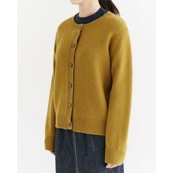 Someday, if - Round-Neck Wool Blend Cardigan