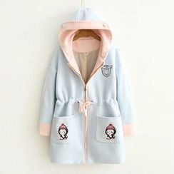 Musume - Embroidered Zip Coat
