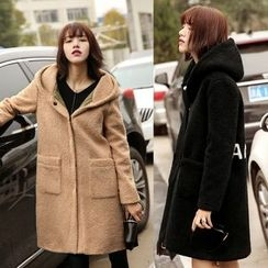 AiSun - Hooded Woolen Long Coat