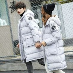 FULLHOPE - Couple Matching Hooded Puffer Coat
