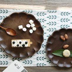 Kawa Simaya - Wooden Petal-Trim Plate