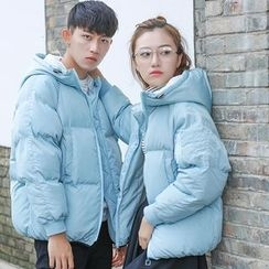 Simpair - Couple Matching Hooded Padded Jacket