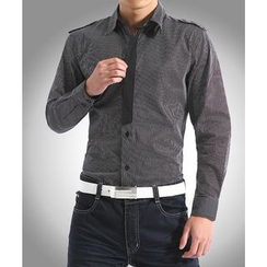 JIBOVILLE - Pinstriped Long-Sleeve Shirt