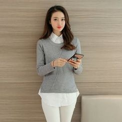 Arroba - Plain Knit Top