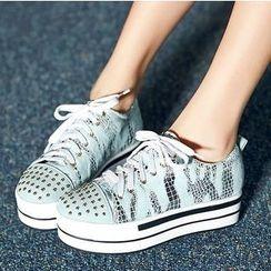 Cinnabelle - Studded Platform Sneakers