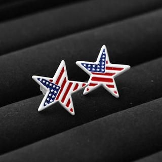 MURATI - American Flag Star Earrings