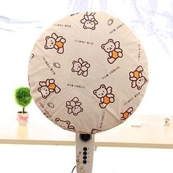 Desu - Cartoon Printed Fan Dust Cover
