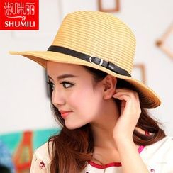 SHUMI - Belted Straw Hat
