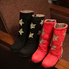 Luco - Kids Star Accent Tall Boots
