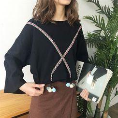 Clair Fashion - PomPom Accent Pullover