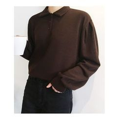 FROMBEGINNING - Long-Sleeve Polo T-Shirt