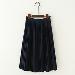 Meimei - Pleated Midi Skirt