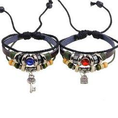 KINNO - Lock Beaded Bracelet / Key Beaded Bracelet