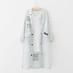 Meimei - Short-Sleeve Long Light Jacket