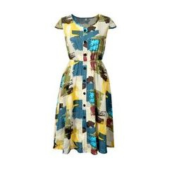 Flore - Short-Sleeve Print Dress