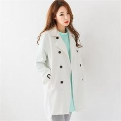 GLAM12 - Double-Buttoned Trench Jacket