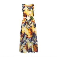 Flore - Sleeveless Printed Chiffon Dress