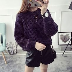 Qimi - Plain Chunky Knit Sweater