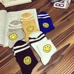 Dollu - Smiley Face Print Socks