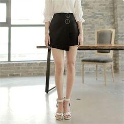 CHICLINE - Wrap-Front Miniskirt