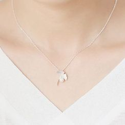 Blinglitz - Faux Pearl Pendant Necklace