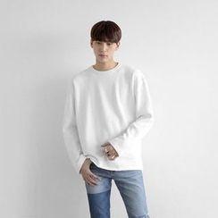 Seoul Homme - Crew-Neck Fleece-Lined T-Shirt