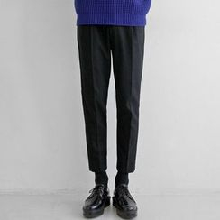 Seoul Homme - Straight-Cut Dress Pants