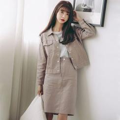 Ivena - 套裝:牛仔布夾克 + 裙