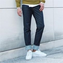 BYMONO - Stitched Straight-Cut Jeans