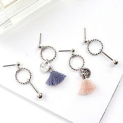 True Glam - Tassel Non-Matching Earrings
