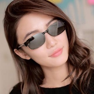 Cuteberry - Rectangular Plastic Sunglasses