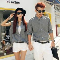 Honey Lemon - 套裝:情侶款襯衫 + 短褲