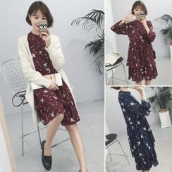 Little Bean - Printed Chiffon Dress