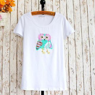 JVL - Short-Sleeve Sequined Print T-Shirt