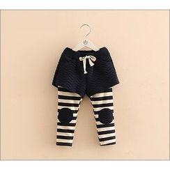 Seashells Kids - Kids Inset Shorts Striped Leggings